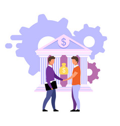 Banking deals and offers flat customized vector
