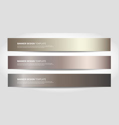 banners with abstract background bronze vector image