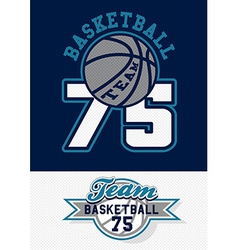 Basketball team print vector