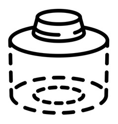 beekeeper hat protect icon outline style vector image