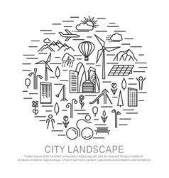 big city concept banner by circle vector image
