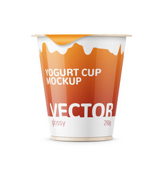 big yogurt pot template vector image