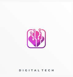 box technology template vector image