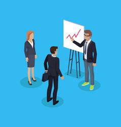 businessman and presentation vector image