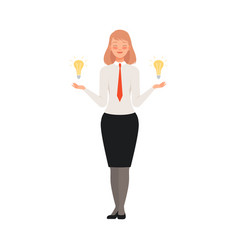 Businesswoman has a great idea character vector