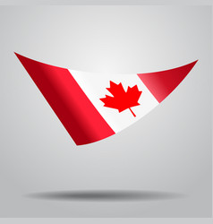 Canadian flag background vector