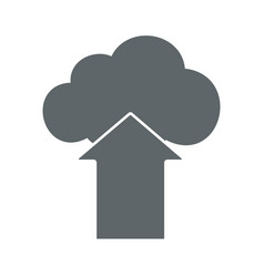 cloud upload flat icon sign logo vector image