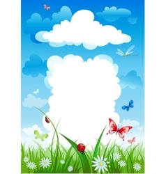 Cloudy house Environmental background vector image