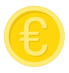 Coin euro flat icon business and finance money vector