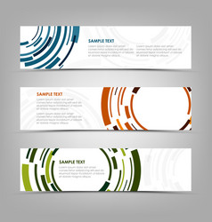 collection banners with abstract technical color vector image