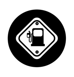 Diamond caution sign icon vector