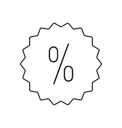 Discount label line icon vector