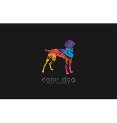 Dog logo design Animal logo Colorful logo vector image