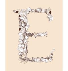E school alphabet letter vector