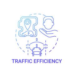 Eco-friendly traffic efficiency concept icon vector