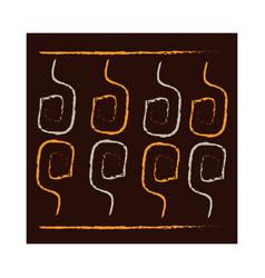 ethnic handmade ornament geometric mosaic tribal vector image