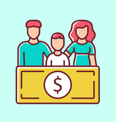 Family sponsorship immigration blue color icon vector