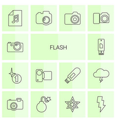 flash icons vector image