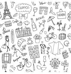 France sketch seamless pattern for your design vector