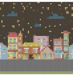 Geometrical night seamless cartoon town vector
