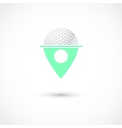 Golf club tag vector image