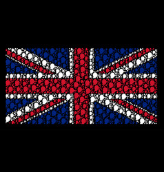 Great britain flag pattern of lier icons vector
