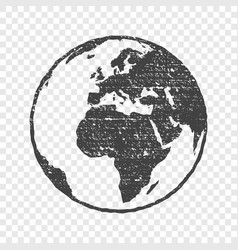 Grunge texture gray world map globe transparent vector image grunge texture gray world map globe transparent vector image gumiabroncs Image collections