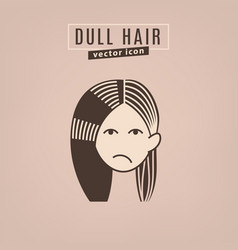 hair problem icon vector image