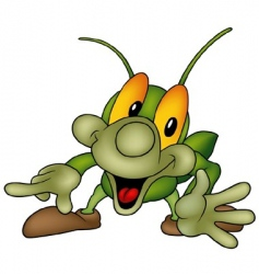 Happy bug vector