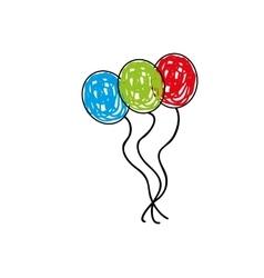 happy toy ballon vector image