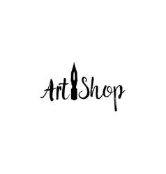 Lettering logo design for art company vector