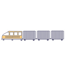logistics services and hauling loads vector image