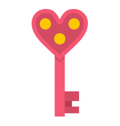 love key icon isolated vector image