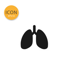 lungs icon isolated flat style vector image