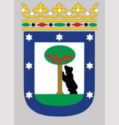 Madrid city coat arms spain capital city vector