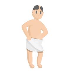 man in spa towel icon cartoon style vector image