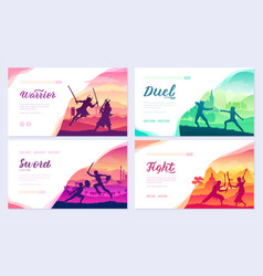 martial arts different nations world vector image