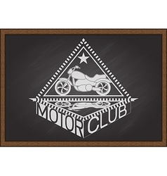Motor club on chalkboard vector