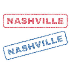 Nashville textile stamps vector