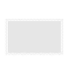 old blank postage paper stamp frame on white vector image