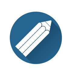 pencil icon flat design vector image