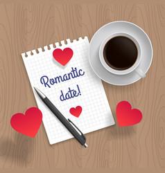 Quote romantic date vector