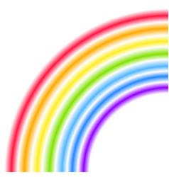 Rainbow half arc shape quarter circle bright vector