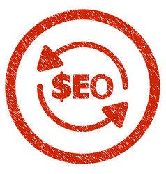 Refresh seo rounded grainy icon vector