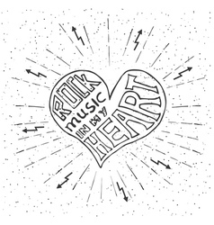 Rock music in my heart vector image