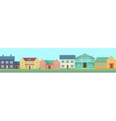 Row houses along street vector