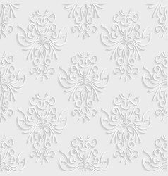 Seamless Background with 3d Floral Pattern vector