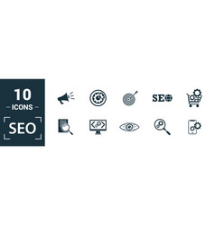 Seo icon set include creative elements search vector