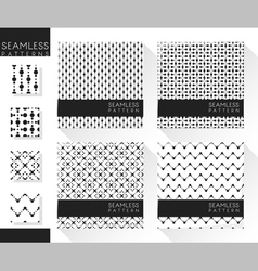 Set abstract seamless patterns 3 vector