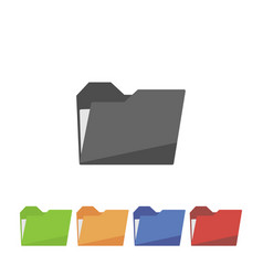 set folder icon on white background vector image